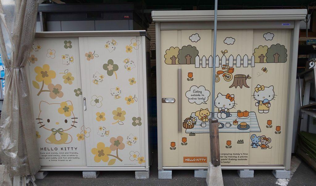 物置&収納庫の新商品を展示中です!
